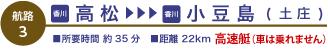 高松⇔小豆島<高速艇>